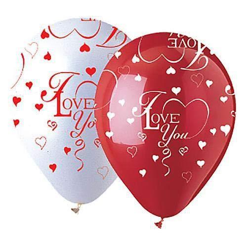 CTIラテックスバルーン912646 I Love You Hearts ( 6 pk、12インチ、マルチカラー   B075VTDZ93
