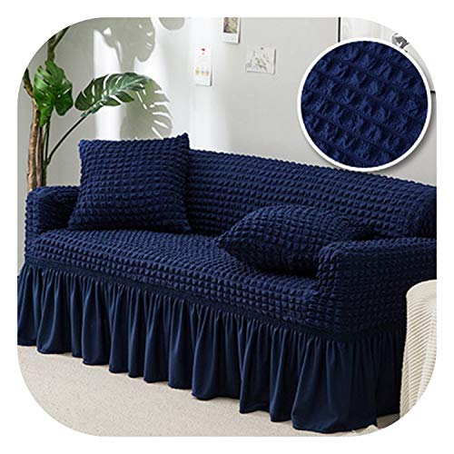 (Fairy music Thickened Popcorn Sofa Cover Spandex Sofa Covers Living Room Armchair Couch Covers Sectional Slipcovers Furniture Protector 1pcs,007,Three seat Sofa 1pc)