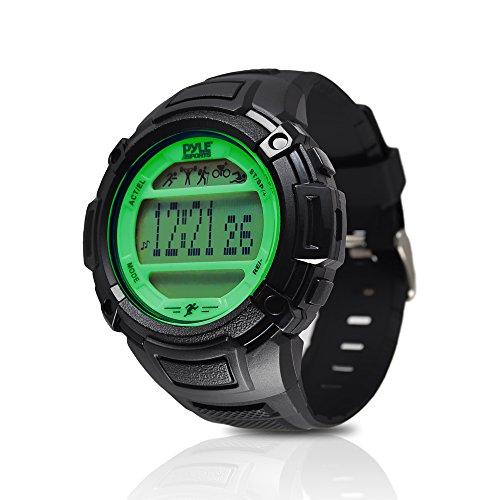- Digital Multifunction Sports Wrist Watch - Smart Fit Classic Men Women Sport Running Training Fitness Gear Tracker w/ Sleep Monitor, Pedometer, Alarm, Stopwatch, Backlight - Pyle PAST44GN (Green)
