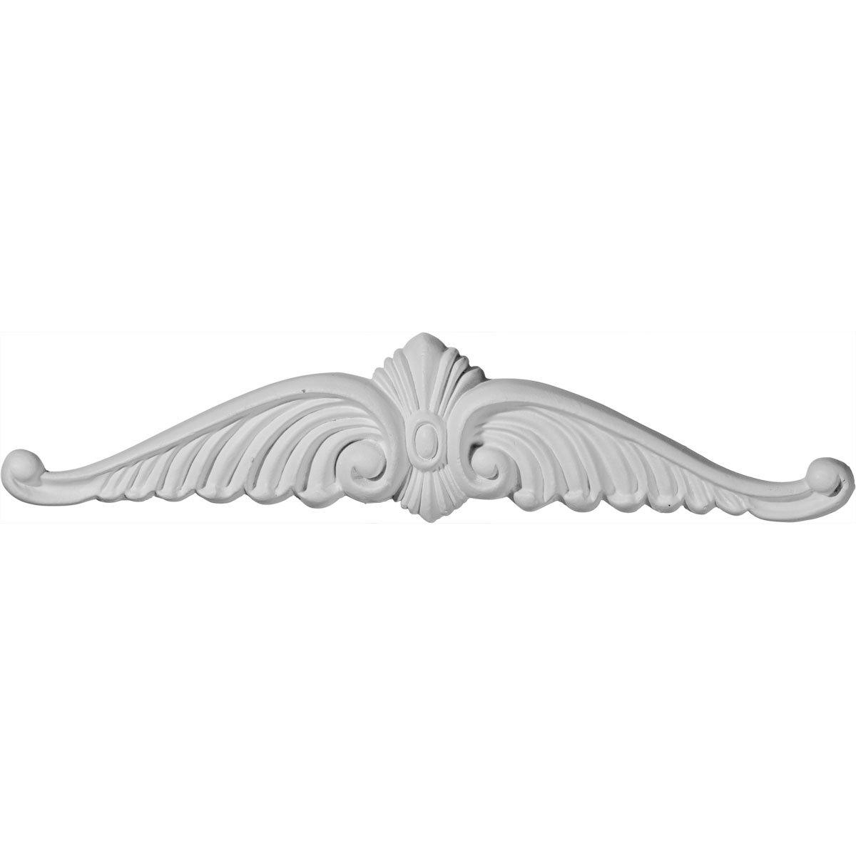 Ekena Millwork ONL10X02X01WI 10 5//8 W X 2 1//4 H X 3//4 P Wings Center Onlay