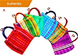 Alondra's Imports®️ NEW (TM) Uniquely Designed, Mini Mexican Tote Favor Bags (Mexican Candy Bags - Mexican Mercado Bags - Mexican Mesh Bags - Bolsas Para Fiestas) 10 x 7 - Multi-Colored - Set of 6