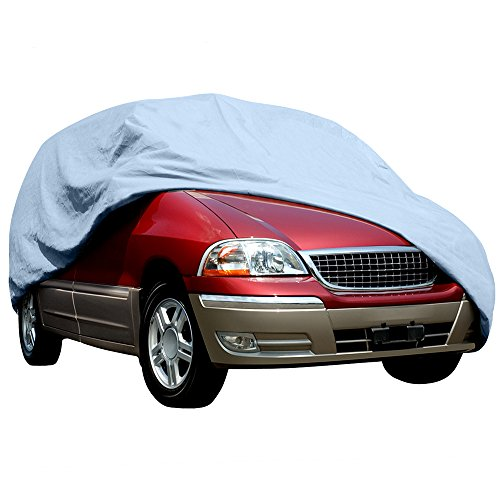 Budge Duro Van Cover Fits Full Size Vans up to 19 feet 7 inches, VD-3 - (Polypropylene, Gray) -