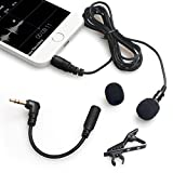 IMDEN Lavalier Microphone, Omnidirectional Lapel Microphone for iPhone, iPad, Android and Windows Smartphones, Clip On Mic Condenser for Recording