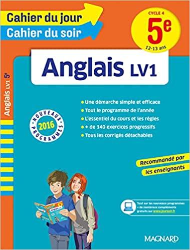 Livre gratuits en ligne Cahier du jour/Cahier du soir Anglais 5e - Nouveau programme 2016 pdf