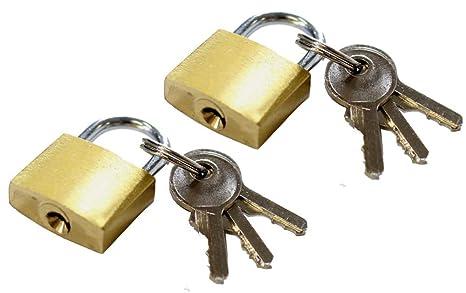 d1022987b607 ToolUSA (20mm) Brass Mini Padlocks With 3 Keys: LOCK-27302