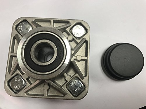 Car Club Assembly - Front Wheel Hub Assembly with Spindle Dust Cover for Club Car DS or Precedent golf cart 2003+