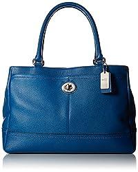 COACH Women's Park Leather Carryall E Sv/Denim Handbag