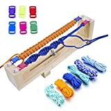 ezzzy jig bracelet maker - Long Way ® Jig Bracelet Maker with Parachute Cord, Wristband Maker - 6 parachute cords and 6 quick release buckles - Paracord Braiding Weaving DIY Craft Tool Kit - Heavy Duty Buckles