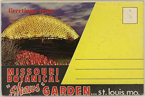Shaws Garden Louis - Missouri Botanical (Shaw's) Garden - St. Louis - 1965 Colourpicture Souvenir Postcard Folder #P91109