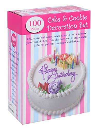 100 Piece Set Birthday Wedding Cake Cupcake Cookie Decorating Craft Design Kit from Unknown