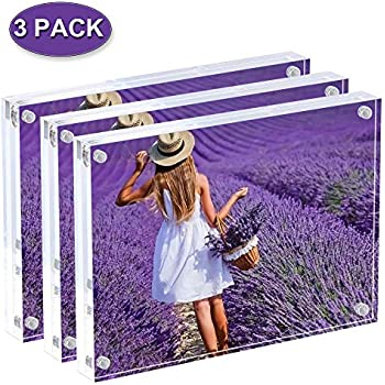 Amazon Com Display4top Acrylic Magnet Photo Frame Double