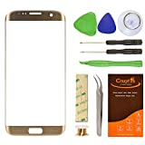 Samsung Galaxy S7 Edge Gold Replacement Front Outer Lens Glass Screen ...
