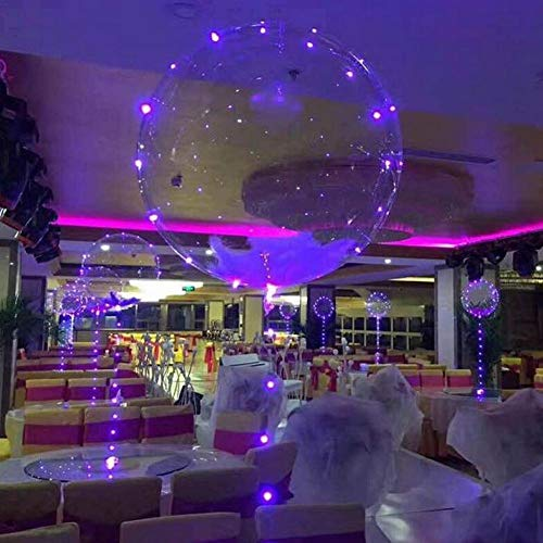 CatcherMy LED Light Up Balloons,18 Inch LED Bobo Balloons for Christmas,Wedding,Birthday Party Decorations, and KTV/bar Decoration.