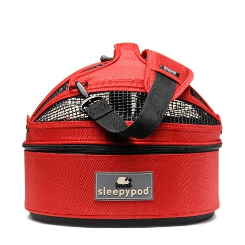 Sleepypod Mini Mobile Pet Bed, Strawberry Red