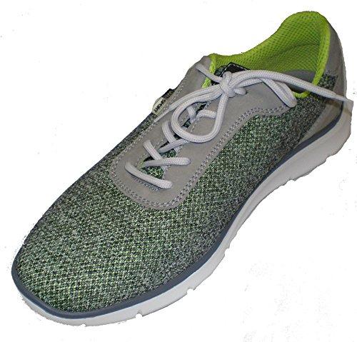 229 H Waldläufer Larghezza Sneaker grigio Mens 953001 201 Harness Verde UwUqEfFx