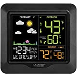 La Crosse Technology S85814 Wireless Color Forecast Station with Barometric Pressure Historical Graph, Black