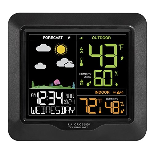 La Crosse Technology S85814 Wireless Color Forecast (Weather Station Clock Displays)