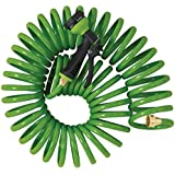 Orbit SunMate Coil Hose with Nozzle, 25-Feet, Green