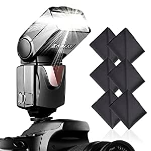 Speedlite Flash, SAMTIAN Professional Camera speedlight Flash for Canon Nikon Panasonic Olympus Pentax and Other DSLR Cameras with Standard Hot Shoe
