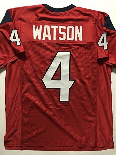 - Unsigned Deshaun Watson Houston Red Custom Stitched Football Jersey Size XL New No Brands/Logos