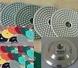 4 Inch 4'' Diamond Polishing Pad 11 PIECES + Aluminum Backer GRANITE Stone Marble Concrete toolsmart best value