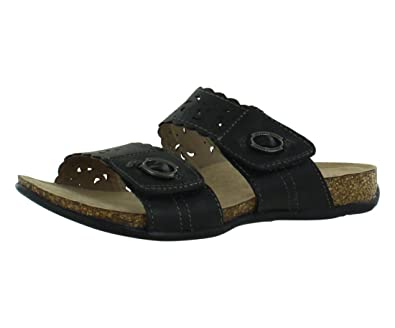 Earth Origin Tessa Black Wide Sandals Women's Shoes Size 11