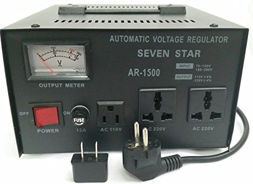 Star Regulator - SEVENSTAR AR 1500W Voltage Regulator/Stabilizer with Built-in Step Up/Down Voltage Transformer