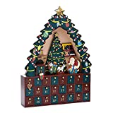 Kurt Adler C6294 Christmas Tree 24-Piece Advent Calendar, 16-Inch