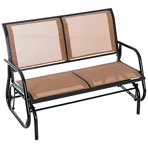 Outsunny 48' Outdoor Patio Swing Glider Bench Chair - Dark Gray