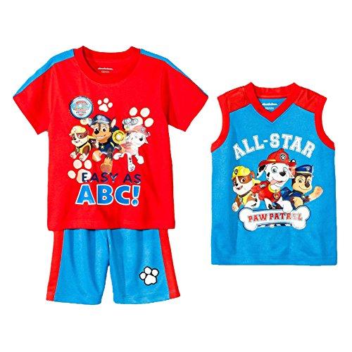 PAW Patrol Toddler Boys' Basketball 3-Piece Set - Nickelodeon (5T, (Boys Jersey Short)
