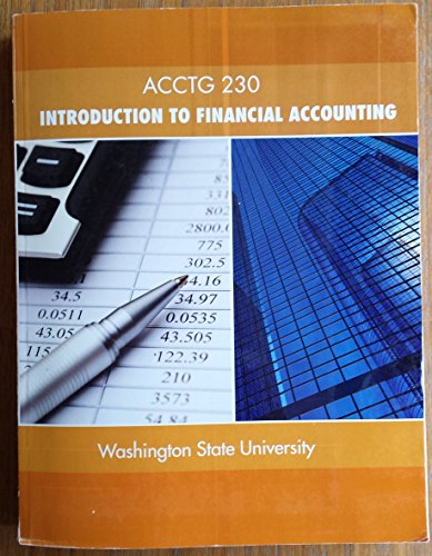 Acctg 230: Introduction to Financial Accounting