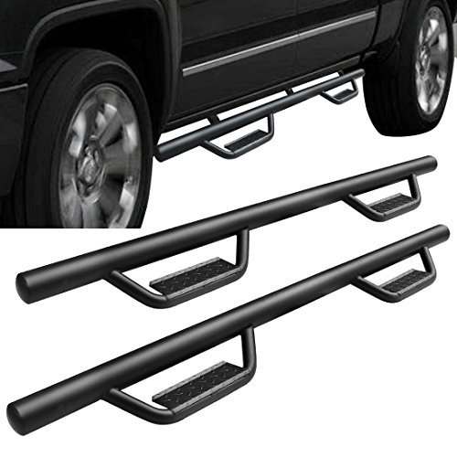 AUTOSAVER88 Side Step Nerf Bar for 07-18 Chevy Silverado 1500 Ext/Double Cab/07-18 GMC Sierra 1500 Ext/Double Cab Pickup 4-Door 3