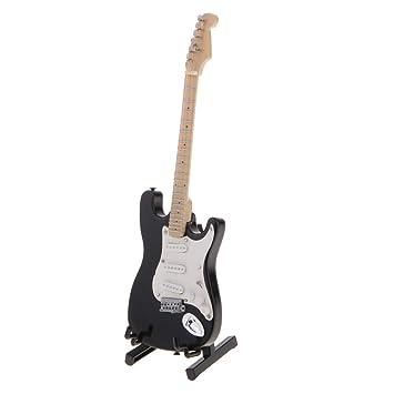 sharprepublic Modelos de Guitarras Eléctricas de Madera de 1 PC en Miniatura para Producción Musical Electrónica Aprendiziaje: Amazon.es: Juguetes y juegos