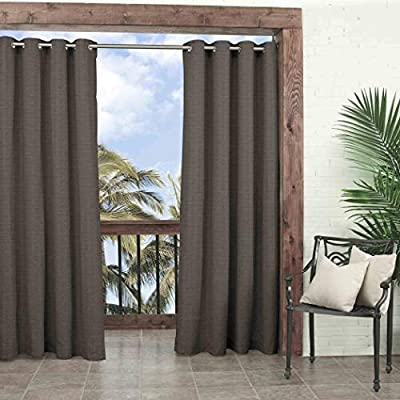 1Pieza 84 cortina de humo color Gazebo solo Panel, color marrón oscuro color sólido patrón Rugby colores fuera, al aire libre Pergola Drapes porche, deck, patio Protector de entrada Sunroom Lanai: Amazon.es:
