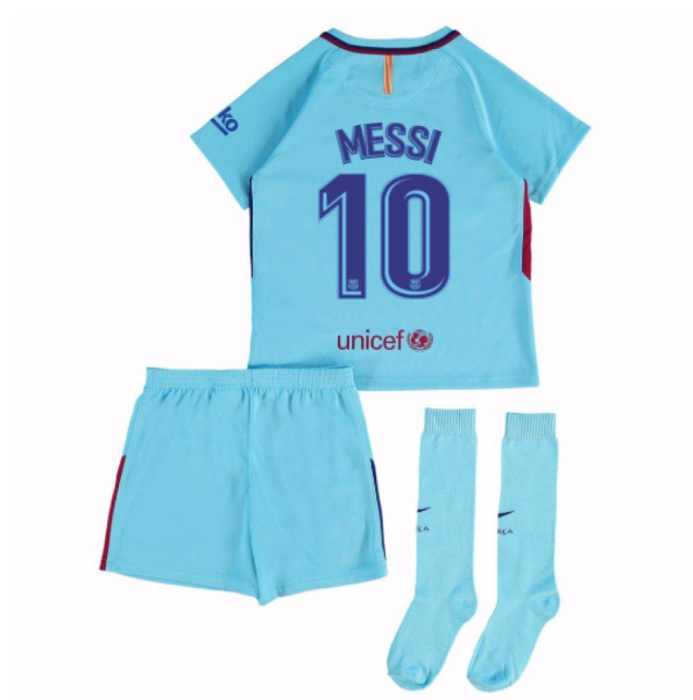2017-2018 Barcelona Away Mini Kit (Messi 10) B075FXM76CBlue MB 5-6yrs (110-116cm)