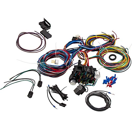 21 Circuit Wiring Harness 17 Fuses Street Hot rod Universal Wire Kit for GM for Chevy