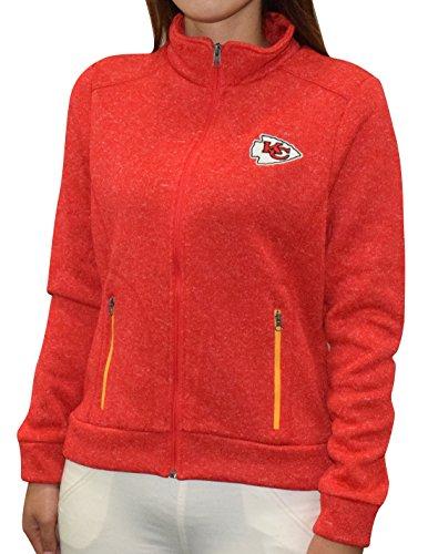 NFL Kansas City Chiefs Damen Pro-Qualität Zip-Up Polar Fleece Herbst / Winterjacke L Rot