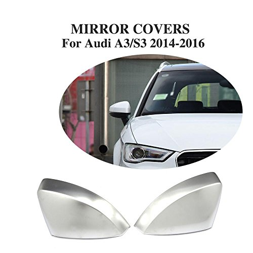 A3 Matt (JCSPORTLINE Matt Chrome Side Mirror Covers for Audi A3 S3 2014-2018)