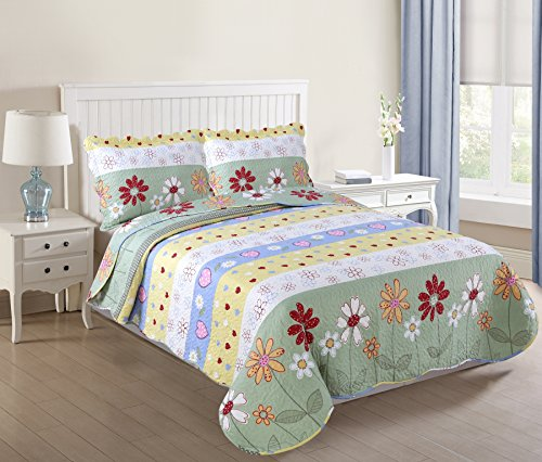 yellow throw quilt - 7