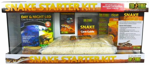 Hagen Exo Terra Snake Starter Kit (20 Gallon Long) (Best Ball Python Enclosure)