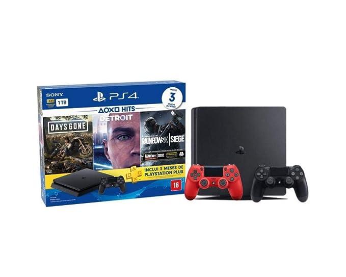 Console Playstation 4 Hits Bundle 5 1tb + 3 Jogos Diversos + um Controle + 3 Meses
