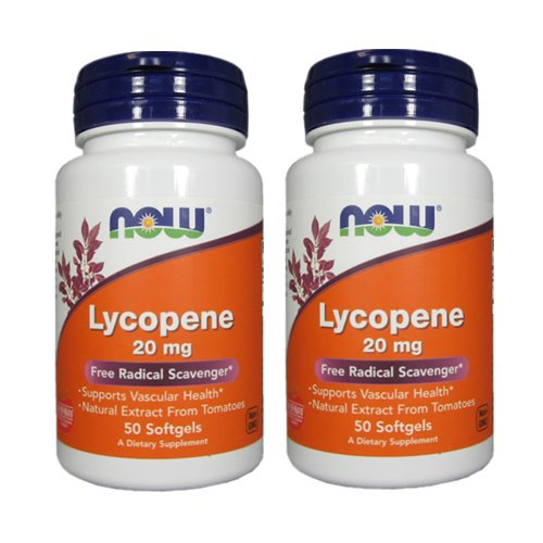Now Foods Lycopene, 50 softgels / 20 mg (Pack of 2)