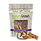 Nature Gnaws Beef & Pork Dog Chew Combo (12 Count) – (4) Braided Bully Stick Bites, (4) Porky Pretzels & (4) Jerky Treats for Small Dogs