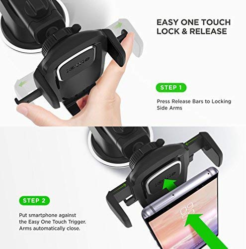 iOttie One 4 & Car Holder for iPhone Max 6s SE Samsung S9 S6 Other Smartphone