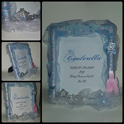 Cinderella Picture Frame - Dreams do come (Silver Cinderella Frame)