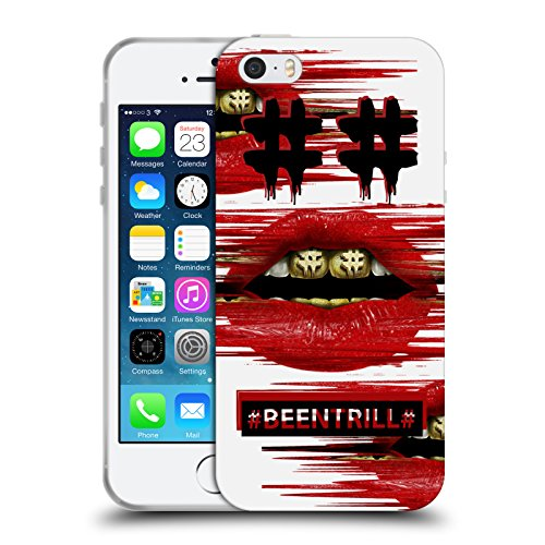 Official Been Trill Red Lips Glitch Soft Gel Case for Apple iPhone 5 / 5s / SE