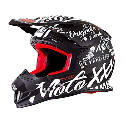 O'Neal Unisex-Adult Off-Road Style MOTO XXX Helmet Torment black/white M (57/58cm) (Med)