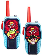 Ryans World Walkie Talkies for Kids, 2 Way Radio Long Range, Light, Sound Effects Kids Toys & Handheld Kids Walkie Talkies, Toys for Boys & Girls for Outdoor Adventure Game