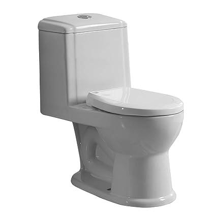 Round Push Button One Piece Child\'s Bathroom Toilet Grade A Vitreous ...