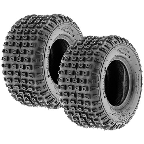 Pair of 2 SunF A011 XC Sport 22×11-8 ATV Golf-Cart Lawn-Mower Knobby Tires, 6 PR, Tubeless
